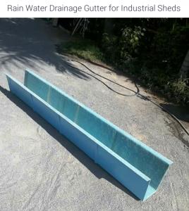 Rain Drainage Gutter made with Fibreglass